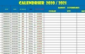 Ffct Calendrier 2021 RANDO DU DIMANCHE 2020/2021   CYCLO CLUB BEAUPREAU   CCB